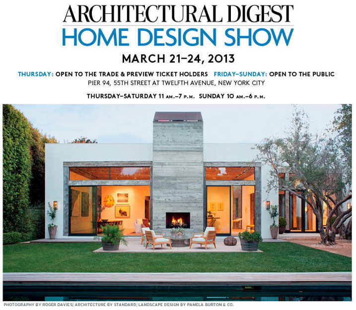 Architectural digest home design show for Architectural digest home plans