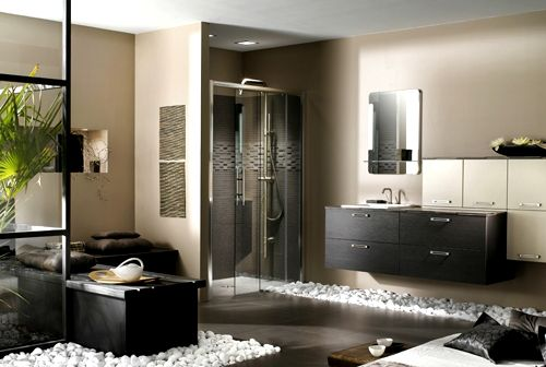 Modern And Sophisticated Interior Design By Using Pebbles